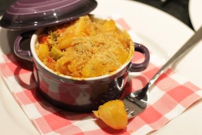 Vegetarische pasta ovenschotel met Grana Padano crumble